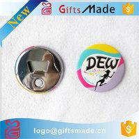 Wholesale best-selling product custom cheap round shape metal magnetic beer bottle opener