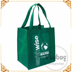 Custom silk screen printing non woven bag, recycle pp non woven shopping bag