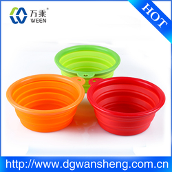 Travel Collapsible silicone Dog Bowl by For Dog Premium