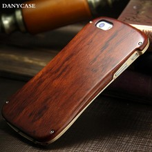 Made in china natural wooden bamboo case for iphone 6 for iphone 6 hard phone cover