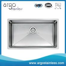 Contemporary Styling 304 rectangular handmade sinks small corner