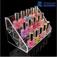 18 bottles acrylic make up box organizer for nail polish
