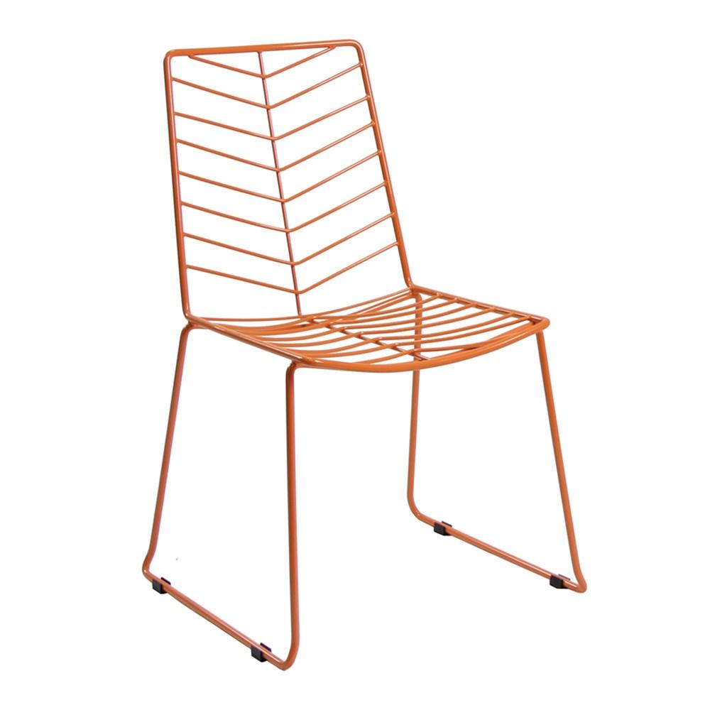 Retro design stahl blatt stuhl metalstuhl produkt id for Draht stuhl design