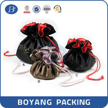 Round satin fabric drawstring jewelry pouch pattern