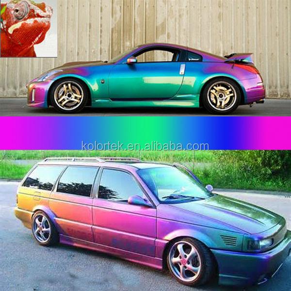 Chameleon paint colors pigments car dip pigment view for Car paint color changing
