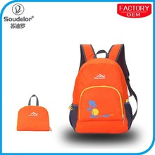 custom quality fold up backpack travel
