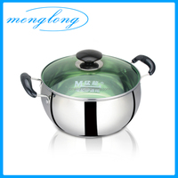 201 Stainless Steel Induction Pot Belly Shaped Stock Pot Cooking Pots