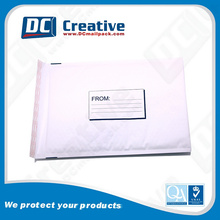 180x280MM international courier white kraft bubble mailer