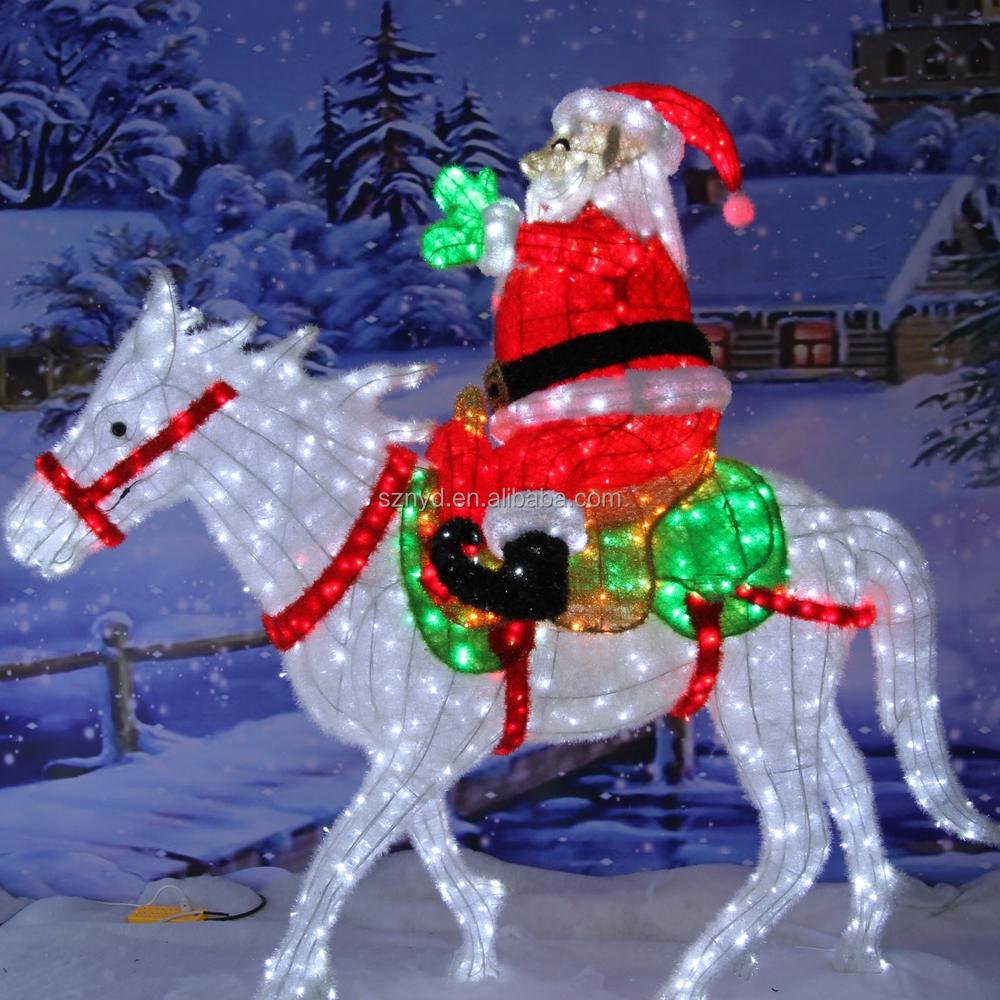2016 Personnalis Creative Santa Claus Lumineux D Coration De No L En Plein Air D Corations De