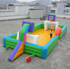 comemrcial grade inflatable soap soccer pitch for rental business R5040