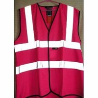 Purple high visibility reflective safety vests