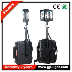 Heavy duty battery operated CREE LED 60W portable backpack outdoor searchlight 5JG-RAL819 rechargeable LED backpack flood light