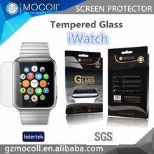 hot new products 2015 Corning Glass tempered glass screen protector for apple watch phone,for apple watch band phone accessory