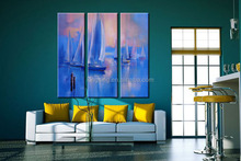 Wall art house painting with Frame decoration wall decals murals christmas home decorating