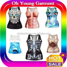 Movie star printed logo tank tops factory vests /vests of sublimation printed design t shirts/sleeveless sublimation tee shirts