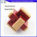 Globle de madera cerebro teaser puzzles/rompecabezas, hechos a mano de madera juguetes