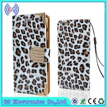 2015 Newest Arrival Bling Leopard Flip Wallet Leather Cover Case For Samsung Galaxy Grand Prime G530H