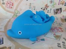 Custom plastic vinyl safe bath toy,dolphin shape playing toy with sound,oem plastic vinyl safe bath toy