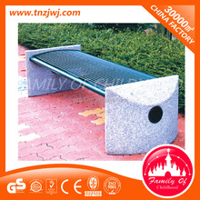 Guangzhou modern park bench Wood and stone park benches on sale