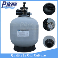 Non corrosive fiberglass and resin emaux sand filter with lateral system