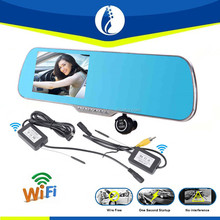 The latest research wireless wifi 3G Smart Rearview Mirror Car HD DVR, 5 inch touch screen Google map GPS navigator car dvr