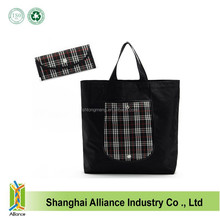 Good Quality Customized Logo And Size Nylon Blank Shopping Tote Bag With Purse