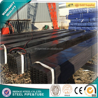 Black annealded square steel pipe astm a36 steel square hollow section