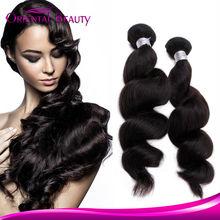 Alibaba Hair Top Quality Natural Black Human Hair Unprocessed 100% Virgin Human 7A Grade Brazilian Loose Wave Hai