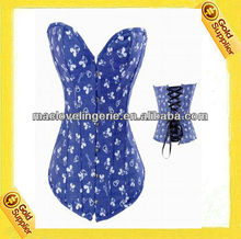 Ml4060 azul Mickey Mouse impresso Lace up voltar Sexy roupa interior S / M / L / XL