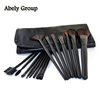 Travel Brush Set, beauty salon accessories horse hair High End Professional Make Up Tool Brush Set