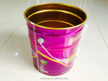 16L metal barrel with steel handle for Latex paint, coating or other chemical products