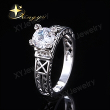Factory price cz women ring jewelry hollow wedding rings XYR300615