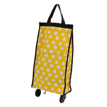 YY-24X01 fold up shopping bag with wheels mini shopping cart