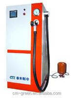 R600,R134A, R22, refrigerant charging equipment, Refrigerant gas CNC technology filling station for refrigerator assembly line