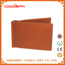 Personalized men leather wallets with real leather