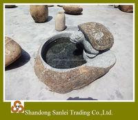 garden/park used natural stone hand carved birdbath for decoration