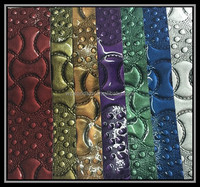high gloss spraying 100% pvc/pu embossed synthetic leather material