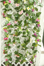 wholesale Artificial silk flower rattan & vines for wall decoration