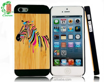 PC and bamboo mobile case cell phone case for i phone 6 case