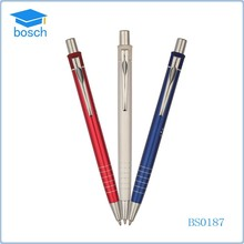 Popular products in china metal ball pen push action ballpoint pen