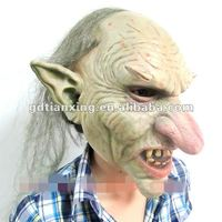Ugly King of Ghost Mask with Hair Adult One Size fits all Costume mask -NEW STYLE