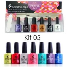 nails art acrylic nail kit, one step uv nail polish gel kit set