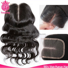 Female Star Quality guarantee 4*4nch body wave 100%peruvian virgin hair lace closure