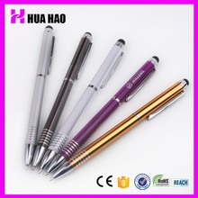 Durable custom aluminium ball pen cheap metal touch pen promotional pen bulk from china