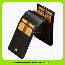 15263 Simple business travel passport cover genuine leather card holder