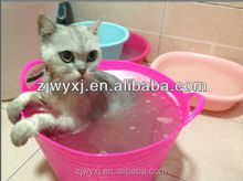 mini flexible buckets/baskets for pet washing,plastic pails made of PE