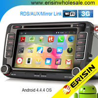 """Erisin ES2698V 7"""" 2 Din Android 4.4.4 Car Auto Audio Player GPS for Golf 5 6"""