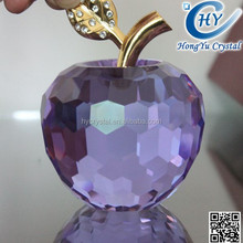 Beautiful Souvenir Clear Crystal Apple Model For Christmas