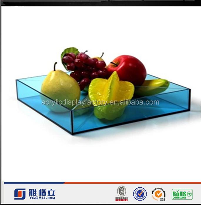 Custom Design acrylic Fruit / Food/ Restaurant Serving Tray