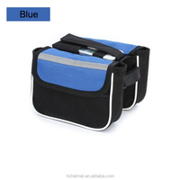 New Bike Bicycle Front Top Tube Frame Pannier Double Bag Waterproof Cycling Phone Pouch